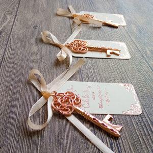 Bridal Shower Favors 25 Rose Gold Key Bottle Opener
